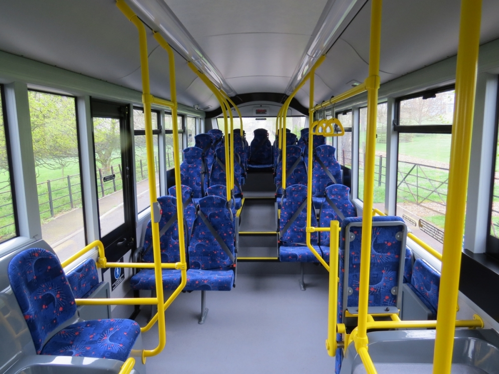 Interior of our service buses - Click to Enlarge