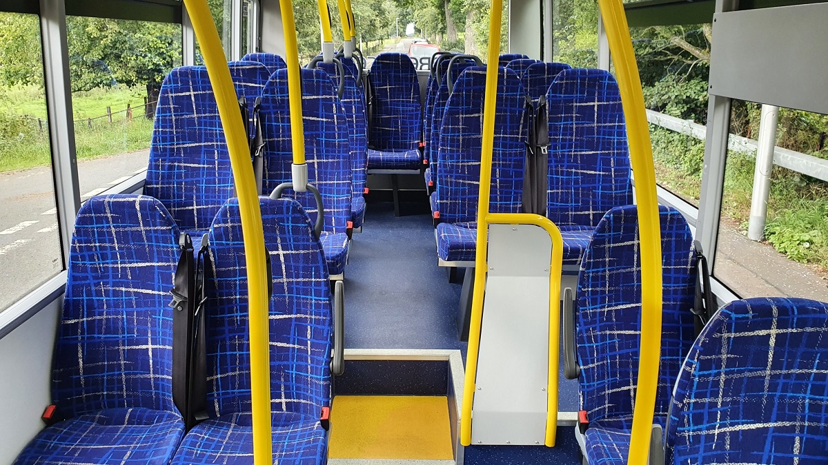 Interior of our mini service buses - Click to Enlarge